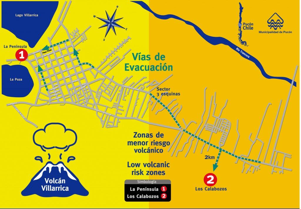 vias evacuacion