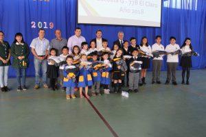 Escuela Municipal El Claro obtiene resultados de alto desempeño en su proceso educativo 2018