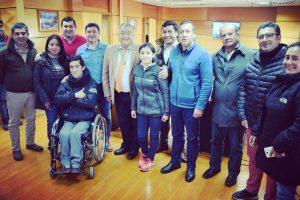 Concejo Municipal recibe a Campeones Nacionales paralímpicos puconinos