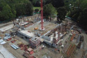 Significativo avance en obras de nuevo Gimnasio Municipal de Pucón